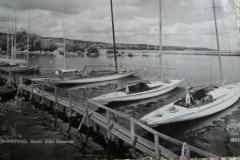 Hamnen med jssbåtar