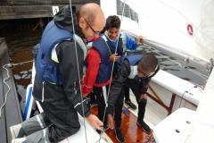 Prova på segling i munksjön